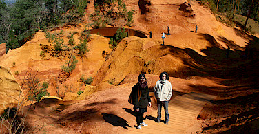 The famous red ochre deposits in Rousillon - photo via Flickr:David Locke
