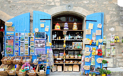 Souvenirs for sale in Les-Baux-de-Provence, France. Flickr:Ming-Yen Hsu