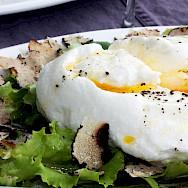 Truffle salad in Les-Baux-de-Provence, France. Flickr:janareifegerste