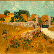 Farmhouse in Provence by Vincent van Gogh 1888.