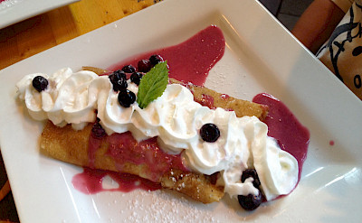 Berry crepes at La Provence Boulangerie & Patisserie in Les Baux de Provence, France. Flickr:Ray Bouknight