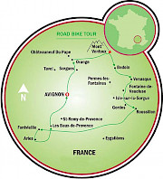 Famous Villages of Provence Road Bike Tour Map