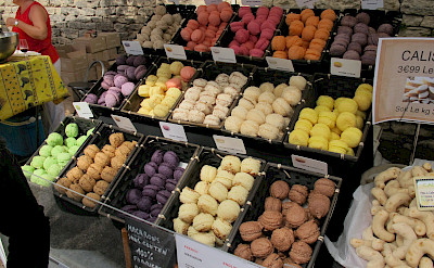 Macarons for sale in the Provence, a local favorite. Flickr:Leo Laempel