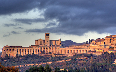 The massive Basilica of San Francesco in Assisi, Umbria, Italy. CC:Roberto Ferrari