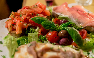 Bruschetta await in Rome, Italy. Flickr:Marco Verch