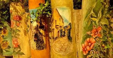 Decorative tiles in Montefalco, Italy. Flickr:seeking fireflies