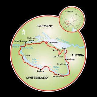 Tour de Quatro Países Map