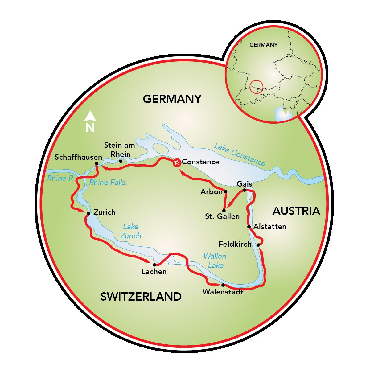 Four Country Tour Bike Tour Switzerland Liechtenstein Austria