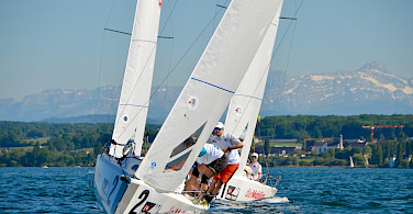 Sailing on the Bodensee (Lake Constance) is a favorite pastime. Near Kreuzlingen, Switzerland. Photo via Flickr:Swiss Sailing League