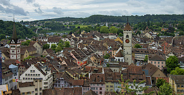 Biking through Schaffhausen, Switzerland. Photo via Wikimedia Commons:chensiyuan