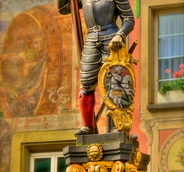 Statue in Stein am Rhein, Switzerland. Photo via Flickr:Stephanie Kroos
