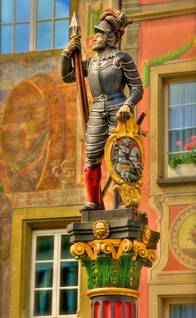 Statue in Stein am Rhein, Switzerland. Photo via Flickr:Stephanie Kroos