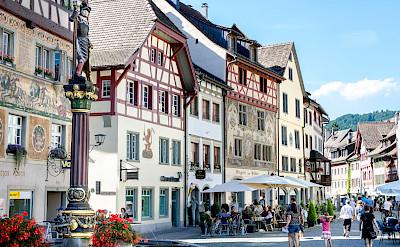 Bike rest in Stein am Rhein, canton Schaffhausen, Switzerland. Photo via Flickr:Luca Casartelli