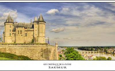 Saumur along the Loire River in France. Flickr:@lain G