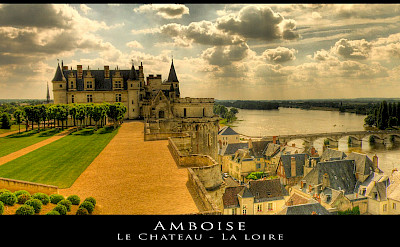 Le Château d'Amboise and gardens in the Loire Valley, France. Flickr:@lain G