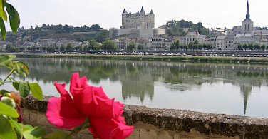 Saumur with its Chateau in the background. Photo courtesy of LVT.