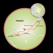Castelo do Loire - Luxo Mapa