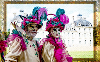 Parade de Masques at Château de Cheverny in the Loire Valley, France. Flickr:Angelo Brathot