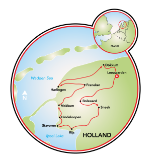 Friesland 11-City Tour Map