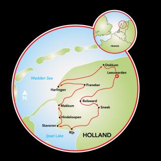 Friesland 11-City Tour Map