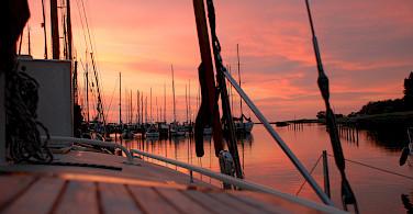 Sunset in Makkum, Friesland, the Netherlands. Photo via Flickr:Maurice Luimes