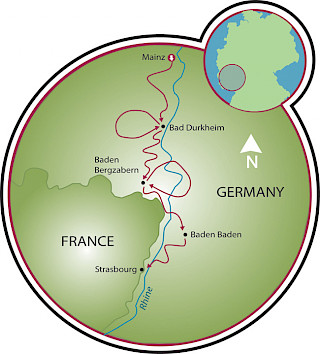 German Wine Route Map