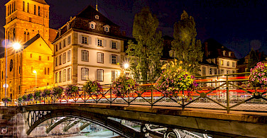 Nighttime in Strasbourg, Alsace, France. Photo via Flickr:caroline alexandre
