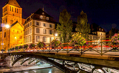 Nighttime in Strasbourg, Alsace, France. Photo via Flickr:caroline alexandre