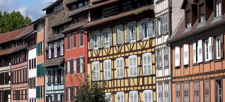 Strasbourg in France near the German border. Photo via Wikimedia Commons:Jonathan Martz