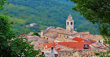 Typical Abruzzo countryside in Caramanico Terme, Italy. Photo via Flickr:Gianfranco Vitolo