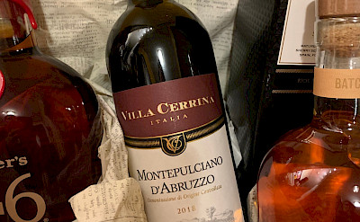 The famous red wine Montepulciano D'Abruzzo! Photo by Gea ©