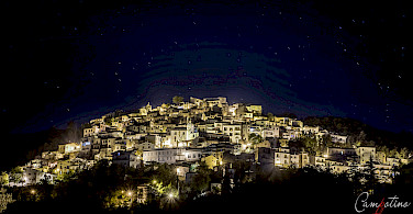 Nightime in Pretoro, Abruzzo, Italy. Photo via Flickr:Daniele Chiavarini