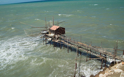 Trabucco are old fishing mechanisms found frequently along the Abruzzo coast. Flickr:altotemi