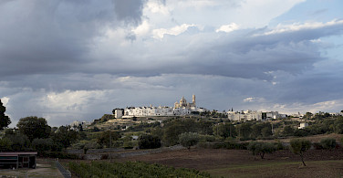 Locorotondo is a good example of the region's white architecture. Puglia, Italy. Photo via Flickr:Biggs