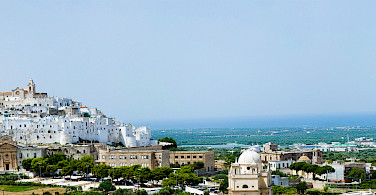 Hilltop white village of Ostuni, Brindisi, Puglia, Italy. Photo via Flickr:Michele Vangelista