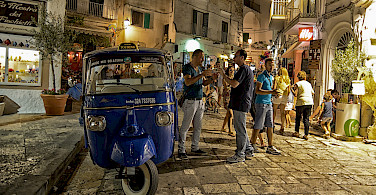 Locals in Ostuni, Puglia, Italy. Photo via Flickr:David Talens