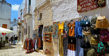 Shopping in Ostuni, Puglia, Italy. Photo via Flickr:Gianfranco Vitolo
