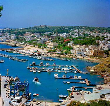 Harbor in Santa Maria di Leuca, Puglia, Italy. Photo via Wikimedia Commons