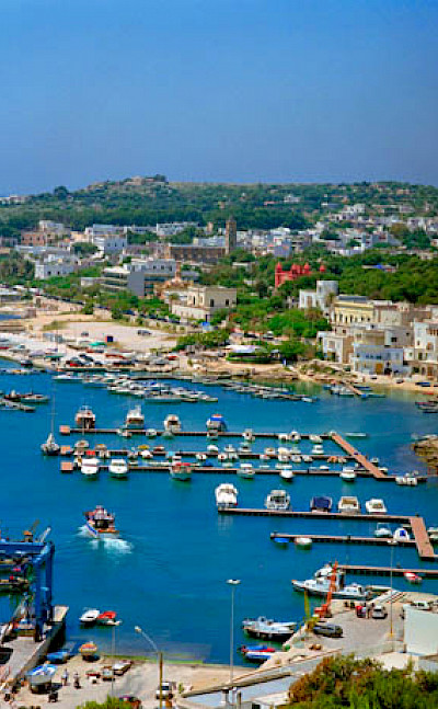 Harbor in Santa Maria di Leuca, Puglia, Italy. Wikimedia Commons