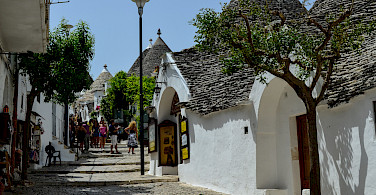 Trulli shops in Alberobello, Puglia, Italy. Photo via Flickr:Michele Vangelista