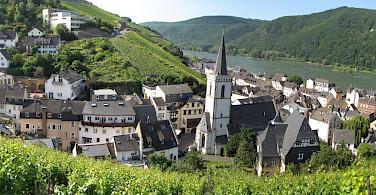 Assmannshausen along the Rhine River, Germany. Photo via Wikimedia Commons:Traveler100