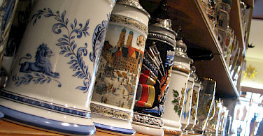 Deutsche beer steins for sale! Photo via Flickr:kreativitea