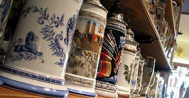 Deutsche beer steins for sale! Photo via Flickr:kreativitea
