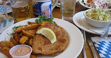 Beer, schnitzel is very Deutsch. Photo via Flickr:VirtualErn