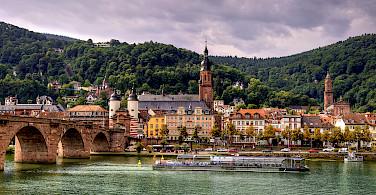 Old Bridge in Heidelberg, Baden-Württemberg, Germany. Photo via Flickr:Alex Hanoko