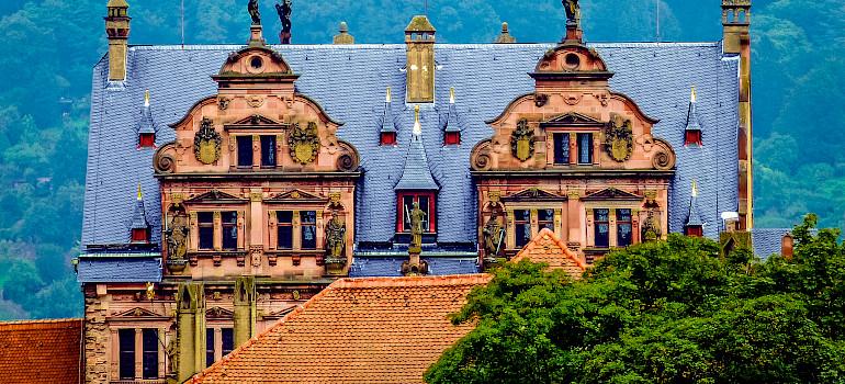 Schloss Heidelberg on the Neckar River, Germany. Photo via Flickr:Plybert49