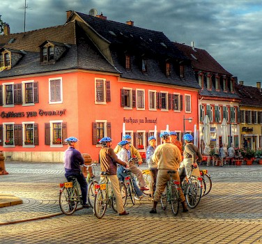 Cycling in Speyer on the bike tour. Photo via Flickr:alainim