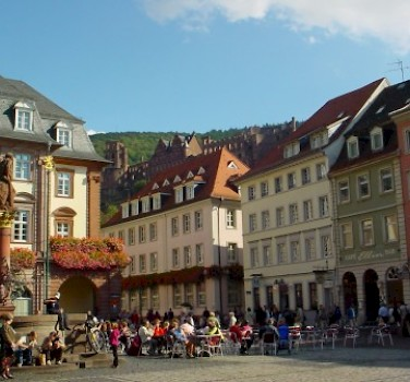 Marketplace in Heidelberg. Photo via Wikimedia Commons: Reinhard Kraasch
