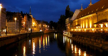 Strasbourg, France lies on the Rhine River near the German border. Photo via Flickr:.tungl