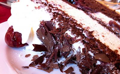 Schwarzwälder Kirschtorte is a popular Deutsche cake! Flickr:Jeremy Keith